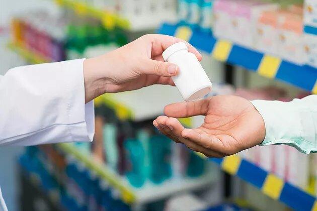 handing over the medicine